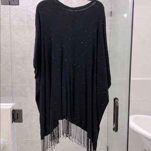 Black Sequined Poncho/Sweater